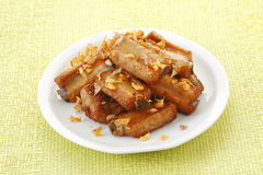 Thai pork and garlic fried Royalty Free Stock Photo
