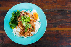 Thai pork leg pot stewed with rice Royalty Free Stock Photography