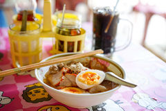 Thai pork noodle Stock Image