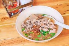 Thai pork noodle soup. Thai food Royalty Free Stock Photography