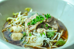 Thai pork noodles Royalty Free Stock Images