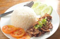 Thai pork rice Royalty Free Stock Photography