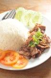 Thai pork rice Stock Images