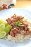 Thai pork rice Royalty Free Stock Images