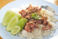 Thai pork rice Stock Photos