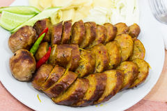 Thai pork sausage Stock Images