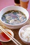 Thai pork soup and chili dip Stock Image