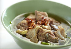Thai pork soup and chili Royalty Free Stock Photography