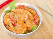 Thai Prawn Curry Stock Photo