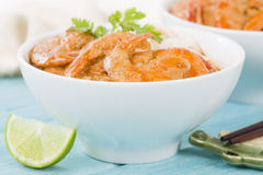 Thai Prawn Curry with Noodles Royalty Free Stock Photography