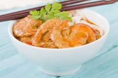Thai Prawn Curry with Noodles Stock Photography