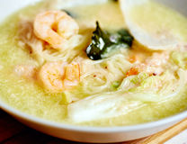 Thai prawn noodle soup Stock Photos