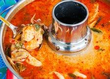 Thai prawn spicy soup. Stock Photo
