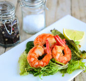 Thai prawns salad Stock Photography