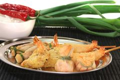 Thai prawns specialties Stock Photos