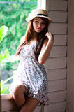 Thai pretty woman Royalty Free Stock Photos
