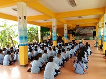 Thai primary school students stock photography