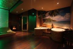 Thai private spa. Thai provate spa green led Stock Image