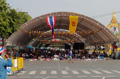 The Thai protest against the government at Democracy Monument Stock Photos