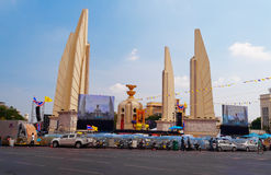 The Thai protest against the government at Democracy Monument Stock Images