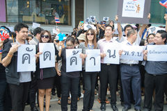 Thai Protester against amnesty bill Royalty Free Stock Photo