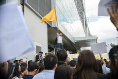 Thai Protester against amnesty bill Royalty Free Stock Photos