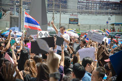Thai Protester against amnesty bill Stock Photo
