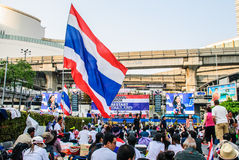 Thai protester against government Royalty Free Stock Photography