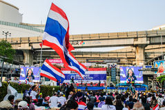 Thai protester against government Royalty Free Stock Photo