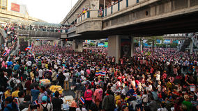 Thai protesters gather at Siam Royalty Free Stock Photos