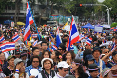 Thai protesters rally to democracy monument Stock Images