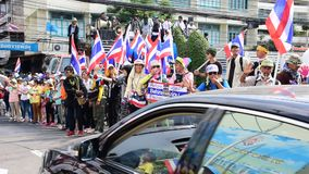 Thai protestors take over the Department of Irrigation stock footage