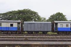 Thai public train. Old Thai public train at railway station in Thailand Stock Images