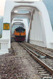 Thai public train running through Stock Images