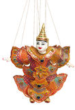 Thai puppet. Beautiful thai puppet on a white background Royalty Free Stock Photos