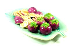 Thai purple eggplant Royalty Free Stock Photos