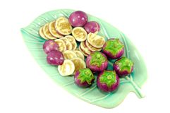 Thai purple eggplant Stock Photo