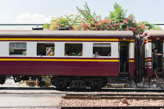 Thai railway train Royalty Free Stock Images