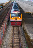 Thai Railway With train travel Royalty Free Stock Image