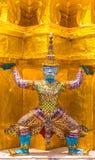 Thai raised wat phra kaew Stock Photo