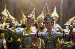 Thai Ramayana Dolls Stock Image