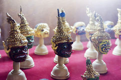 Thai Ramayana Head Dolls Stock Image