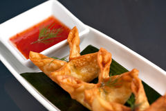 Thai Rangoons Appetizer Royalty Free Stock Photo