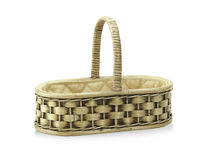 Thai Rattan Basket Neath And Nice Craft Royalty Free Stock Photography