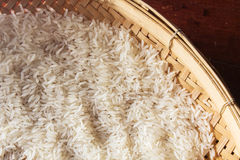Thai raw rice,still life. Royalty Free Stock Images