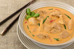 Thai Red Chicken Curry Stock Photos