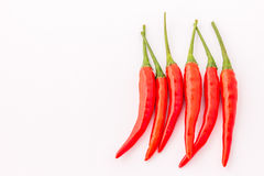 Thai red chilli. Thai super red hot chilli, thai spices Royalty Free Stock Image