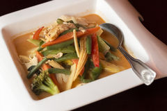Thai Red Curry Chicken Stock Photo