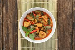 Thai red curry stock images
