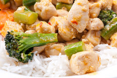 Thai red curry chicken Royalty Free Stock Photo
